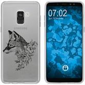 Samsung Galaxy A8 (2018) Plus Silikon-Hülle Floral  M1-1