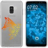 Samsung Galaxy A8 (2018) Plus Silikon-Hülle Floral  M1-2