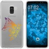 Samsung Galaxy A8 (2018) Plus Silikon-Hülle Floral  M1-3