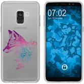 Samsung Galaxy A8 (2018) Silikon-Hülle Floral  M1-6