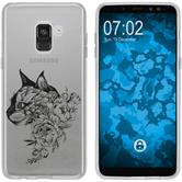 Samsung Galaxy A8 (2018) Silicone Case floral M2-1