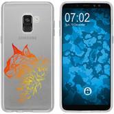 Samsung Galaxy A8 (2018) Plus Silicone Case floral M2-2