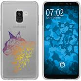 Samsung Galaxy A8 (2018) Silikon-Hülle Floral  M2-3