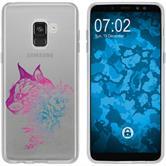 Samsung Galaxy A8 (2018) Plus Silicone Case floral M2-6