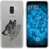 Samsung Galaxy A8 (2018) Silikon-Hülle Floral  M3-1
