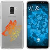 Samsung Galaxy A8 (2018) Silikon-Hülle Floral  M3-2