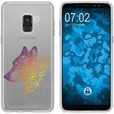 Samsung Galaxy A8 (2018) Silikon-Hülle Floral  M3-3