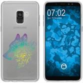 Samsung Galaxy A8 (2018) Silikon-Hülle Floral  M3-4