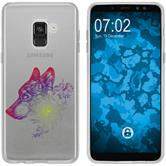 Samsung Galaxy A8 (2018) Silikon-Hülle Floral  M3-5