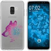 Samsung Galaxy A8 (2018) Silikon-Hülle Floral  M3-6