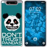 Samsung Galaxy A80 Silicone Case Crazy Animals Panda M2