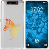 Samsung Galaxy A80 Silicone Case floral Fox M1-2