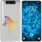 Samsung Galaxy A80 Silicone Case floral Fox M1-3