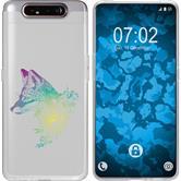 Samsung Galaxy A80 Silicone Case floral Fox M1-4