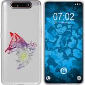 Samsung Galaxy A80 Silicone Case floral Fox M1-5