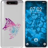 Samsung Galaxy A80 Silicone Case floral Fox M1-6
