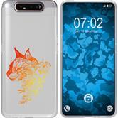 Samsung Galaxy A80 Silicone Case floral M2-2
