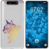Samsung Galaxy A80 Silicone Case floral M2-3