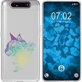 Samsung Galaxy A80 Silicone Case floral M2-4