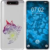 Samsung Galaxy A80 Silicone Case floral M2-5