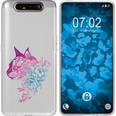 Samsung Galaxy A80 Silicone Case floral M2-6