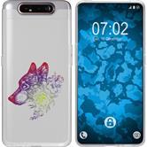 Samsung Galaxy A80 Funda de silicona floral M3-5