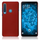 Silicone Case Galaxy A9 (2018) rubberized red Cover
