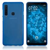 Silicone Case Galaxy A9 (2018) matt blue Cover