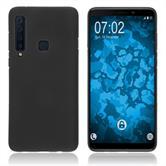 Silikon Hülle Galaxy A9 (2018) matt schwarz Cover
