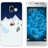 Samsung Galaxy J3 2017 Silikon-Hülle X Mas Weihnachten  M6