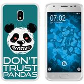 Samsung Galaxy J3 2017 Silicone Case Crazy Animals Panda M2