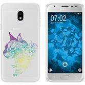 Samsung Galaxy J3 2017 Silikon-Hülle Floral  M2-4