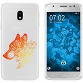 Samsung Galaxy J3 2017 Silicone Case floral M3-2