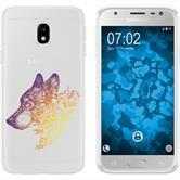 Samsung Galaxy J3 2017 Silikon-Hülle Floral  M3-3