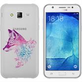 Samsung Galaxy J5 (2016) J510 Silikon-Hülle Floral  M1-6
