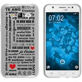 Samsung Galaxy J5 (2015 - J500) Funda de silicona in Love M4