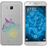 Samsung Galaxy J7 (2016) J710 Silikon-Hülle Floral  M2-4