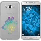 Samsung Galaxy J7 (2016) J710 Coque en Silicone floral M3-4