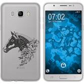 Samsung Galaxy J7 (2016) J710 Silikon-Hülle Floral  M5-1