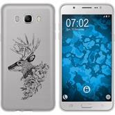 Samsung Galaxy J7 (2016) J710 Custodia in Silicone floral  M7-1