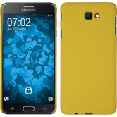 Hardcase Galaxy J7 Prime rubberized yellow + protective foils
