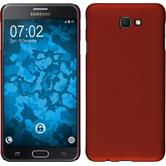 Hardcase Galaxy J7 Prime rubberized red + protective foils