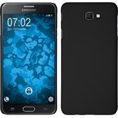 Hardcase Galaxy J7 Prime gummiert schwarz + 2 Schutzfolien