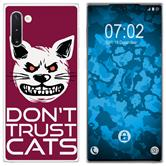 Samsung Galaxy Note 10 Silicone Case Crazy Animals M1