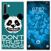 Samsung Galaxy Note 10 Silicone Case Crazy Animals Panda M2