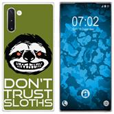 Samsung Galaxy Note 10 Silicone Case Crazy Animals sloth M3