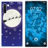 Samsung Galaxy Note 10 Silicone Case Christmas X Mas M4