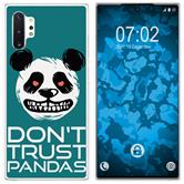 Samsung Galaxy Note 10+ Silicone Case Crazy Animals Panda M2