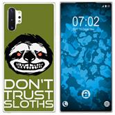 Samsung Galaxy Note 10+ Silicone Case Crazy Animals sloth M3