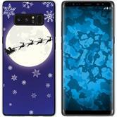 Samsung Galaxy Note 8 Silikon-Hülle X Mas Weihnachten  M4